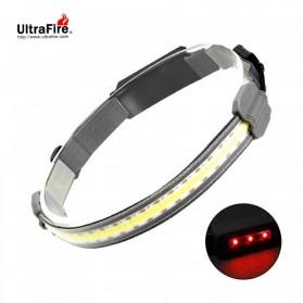 UltraFire Headlamp Senter LED Kepala Rechargeable COB - UF-1 - Silver