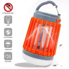 Oobest Lampu Gantung Bohlam LED Solar Panel Lamp Hanging Night Light 10W with Mosquito Killer Trap - W851 - Orange