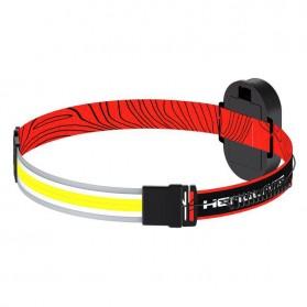 Pocketman Senter LED Kepala Headlamp Flashlight Waterproof COB 400 Lumens - LH-G13 - Black