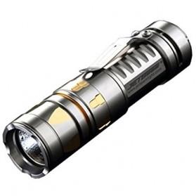 JETBeam TCR20 Titanium Limited Edition Senter LED CREE XP-L 500 Lumens. - Silver