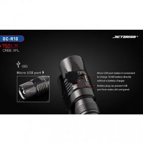 JETBeam DC-R10 Senter LED Cree XP-L 750 Lumens - Black - 8