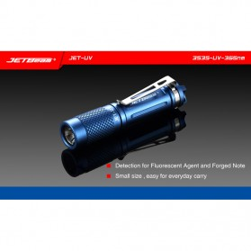 JETBeam Jet-UV Senter LED Ultraviolet 3535-UV-365nm - Blue - 4