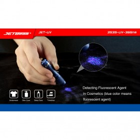 JETBeam Jet-UV Senter LED Ultraviolet 3535-UV-365nm - Blue - 7