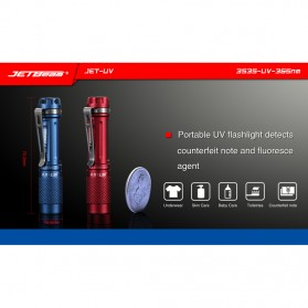 JETBeam Jet-UV Senter LED Ultraviolet 3535-UV-365nm - Blue - 8