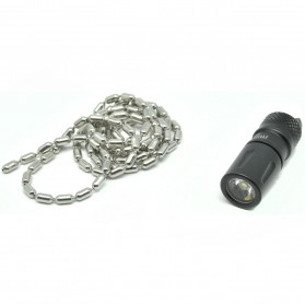 JETBeam Mini-1 AL Tiny USB Rechargeable Light Senter LED CREE XP-G2 130 Lumens - Black - 5