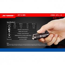 JETBeam JET-II MK Senter LED CREE XP-L HI 510 Lumens - Black - 8