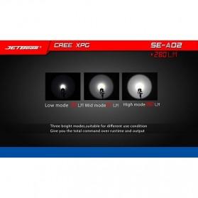 Jetbeam SE-A02 Senter Tiny Pen LED CREE XP-G3 280 Lumens - Black - 6