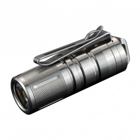 JETBeam Mini-1 Ti Tiny USB Rechargeable Light Senter LED CREE XP-G2 130 Lumens - Silver
