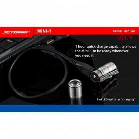 JETBeam Mini-1 Ti Tiny USB Rechargeable Light Senter LED CREE XP-G2 130 Lumens - Silver - 2