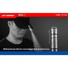 JETBeam Mini-1 Ti Tiny USB Rechargeable Light Senter LED CREE XP-G2 130 Lumens - Silver - 4