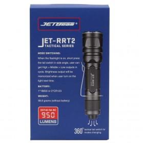 JETBeam RRT2 Senter LED SST40 N4 BC 950 Lumens - Black - 7