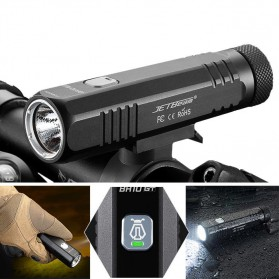 JETBeam BR10-GT Senter LED Sepeda Flashlight Cree SST40 N4 BC 1100 Lumens - Black