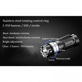 JETBeam RRT01 Senter LED CREE XP-L 950 Lumens - Black - 9