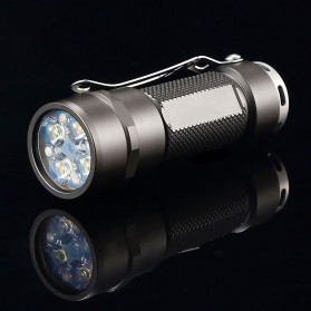 JETBeam RRT03 Raptor Flashlight Senter Tactical LED CREE XP-G3 1400 Lumens - Black