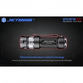 JETBeam RRT01 Raptor Senter LED Nichia 219C 950 Lumens with Extension Tube - Black - 9