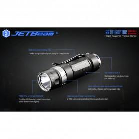 JETBeam RRT01 Raptor Senter LED Nichia 219C 950 Lumens with Extension Tube - Black - 10