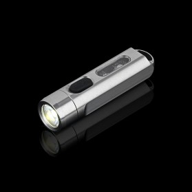 JETBeam Mini One Senter LED USB Rechargeable CREE XP-G3 500 Lumens with RGB + UV Light - Silver