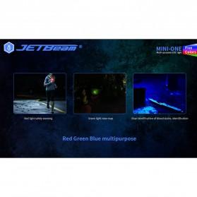 JETBeam Mini One Senter LED USB Rechargeable CREE XP-G3 500 Lumens with RGB + UV Light - Silver - 6
