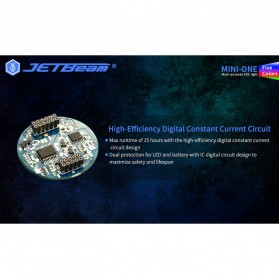 JETBeam Mini One Senter LED USB Rechargeable CREE XP-G3 500 Lumens with RGB + UV Light - Silver - 7