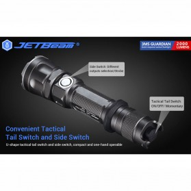 JETBeam 3Ms Guardian Flashlight Senter Tactical LED SST-70 2000 Lumens - Black - 6