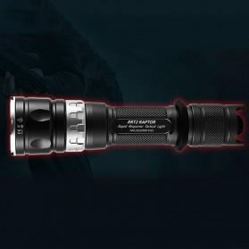 JETBeam RRT2 Raptor Flashlight Senter Tactical LED Luminus SST-70 2080 Lumens - Black - 4
