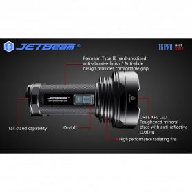 JETBeam T6 Senter LED Flashlight Tactical CREE XP-L 4350 Lumens - Black - 7