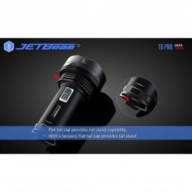 JETBeam T6 Senter LED Flashlight Tactical CREE XP-L 4350 Lumens - Black - 8