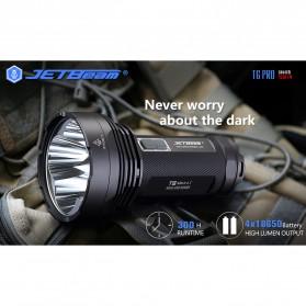 JETBeam T6 Senter LED Flashlight Tactical CREE XP-L 4350 Lumens - Black - 9