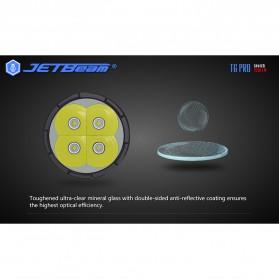 JETBeam T6 Senter LED Flashlight Tactical CREE XP-L 4350 Lumens - Black - 4