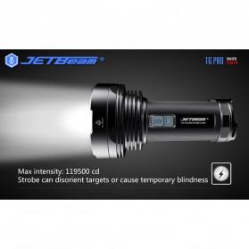 JETBeam T6 Senter LED Flashlight Tactical CREE XP-L 4350 Lumens - Black - 6