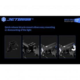 JETBeam BR10 Pro Senter LED Sepeda Flashlight Cree SST40 1380 Lumens - Black - 6