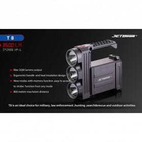 JETBeam T8 Senter LED Flashlight Tactical CREE XP-L 3500 Lumens - Black - 2