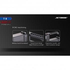 JETBeam T8 Senter LED Flashlight Tactical CREE XP-L 3500 Lumens - Black - 3