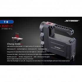 JETBeam T8 Senter LED Flashlight Tactical CREE XP-L 3500 Lumens - Black - 5