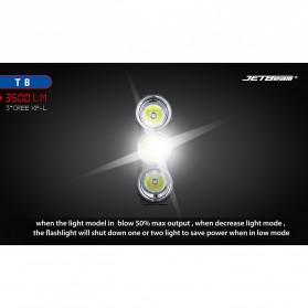 JETBeam T8 Senter LED Flashlight Tactical CREE XP-L 3500 Lumens - Black - 6