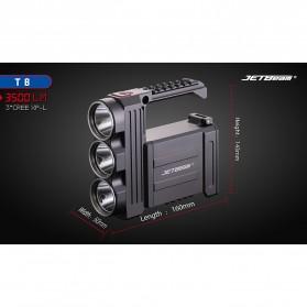JETBeam T8 Senter LED Flashlight Tactical CREE XP-L 3500 Lumens - Black - 7
