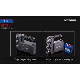 JETBeam T8 Senter LED Flashlight Tactical CREE XP-L 3500 Lumens - Black - 10