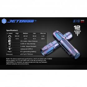 JETBeam Senter Flashlight LED CREE XP-L HI 800 Lumens - JET-ST-Como - Multi-Color - 7
