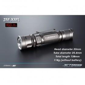 JETBeam 3M Senter LED CREE XM-L2 560 Lumens - Black