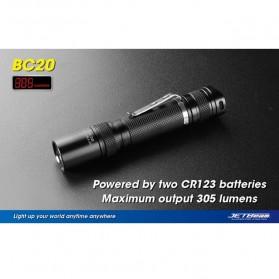 JETBeam BC20 Senter LED CREE XP-G R5 305 Lumens - Black