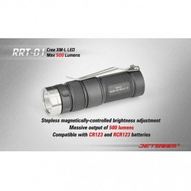 JETBeam RRT-01 Senter LED CREE XM-L2 600 Lumens - Black