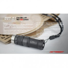 JETBeam RRT-01 Senter LED CREE XM-L2 600 Lumens - Black - 2