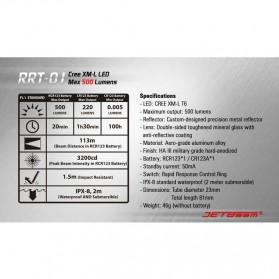 JETBeam RRT-01 Senter LED CREE XM-L2 600 Lumens - Black - 3