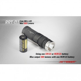 JETBeam RRT-01 Senter LED CREE XM-L2 600 Lumens - Black - 6