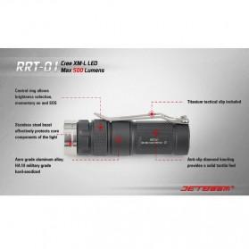 JETBeam RRT-01 Senter LED CREE XM-L2 600 Lumens - Black - 10
