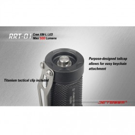 JETBeam RRT-01 Senter LED CREE XM-L2 600 Lumens - Black - 11