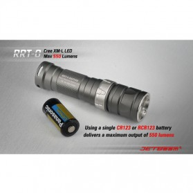JETBeam RRT-0 Senter LED CREE XM-L2 650 Lumens - Black - 4
