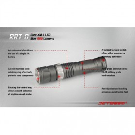 JETBeam RRT-0 Senter LED CREE XM-L2 650 Lumens - Black - 5