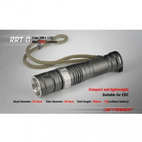 JETBeam RRT-0 Senter LED CREE XM-L2 650 Lumens - Black - 6