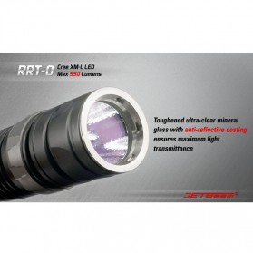 JETBeam RRT-0 Senter LED CREE XM-L2 650 Lumens - Black - 7